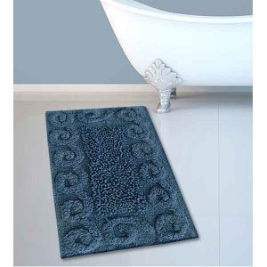 BATH-MAT BM-82 COTTON SPIRAL BLUE 45Χ70