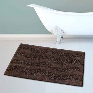BATH-MAT BM-459 WAVES BROWN 45Χ70