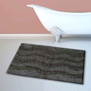BATH-MAT BM-459 WAVES GREY 45Χ70