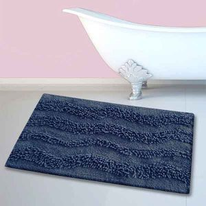BATH-MAT BM-459 WAVES NAVY 45Χ70