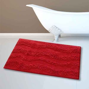 BATH-MAT BM-459 WAVES RED 45Χ70