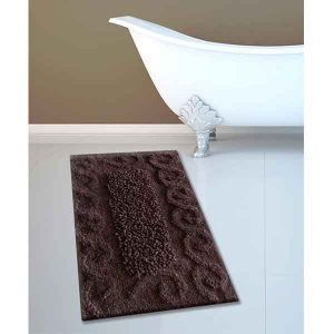 BATH-MAT BM-82 COTTON SPIRAL BROWN 45Χ70