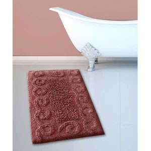 BATH-MAT BM-82 COTTON SPIRAL DUSTY ROSE 45Χ70