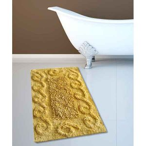 BATH-MAT BM-82 COTTON SPIRAL  LEMON 45Χ70