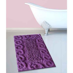 BATH-MAT BM-82 COTTON SPIRAL LILA 45Χ70