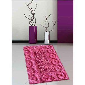 BATH-MAT BM-82 COTTON SPIRAL MAGENTA 45Χ70