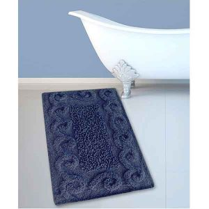 BATH-MAT BM-82 COTTON SPIRAL NAVY 45Χ70