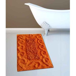 BATH-MAT BM-82 COTTON SPIRAL ORANGE 45Χ70