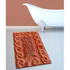 BATH-MAT BM-82 COTTON SPIRAL PEACH 45Χ70