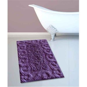 BATH-MAT BM-82 COTTON SPIRAL PURPLE 45Χ70