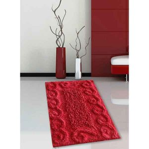 BATH-MAT BM-82 COTTON SPIRAL RED 45Χ70