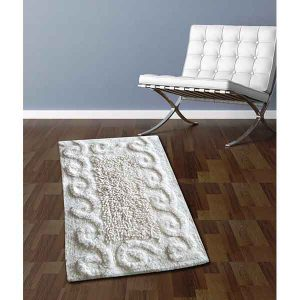 BATH-MAT BM-82 COTTON SPIRAL WHITE 45Χ70
