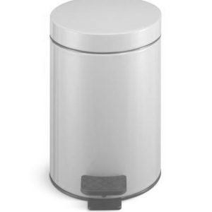 NO RUSTY STEP BIN 5 L WHITE