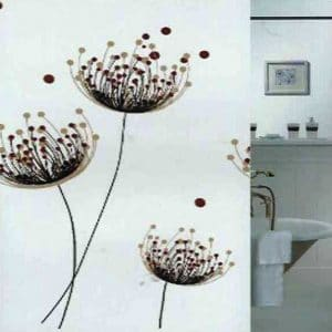 SHOWER CURTAIN  W FLOWER  2,40X2,00