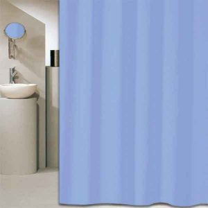 SHOWER CURTAIN SOLID COLOR LIGHT BLUE 1,80 WIDTH X 2,20 HEIGHT