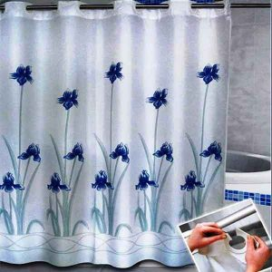SHOWER CURTAIN  No 1027 HOOKLESS 1,80X1,80