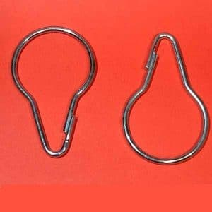 12 PCS METAL SHOWER CURTAIN  HOOKS  SMALL