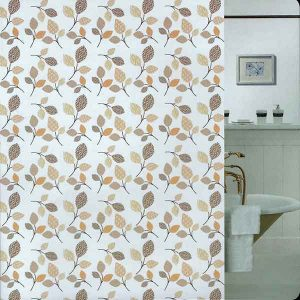 SHOWER CURTAIN  BR LEAVES 1,80X2,00