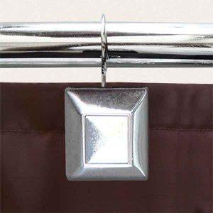 12 PCS METAL BATHROOM CURTAIN RINGS SQUARE