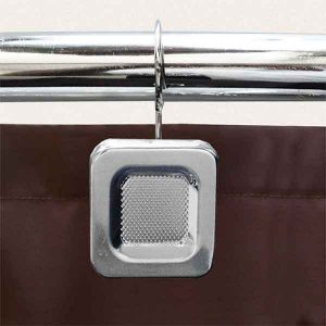 12 PCS METAL BATHROOM CURTAIN RINGS CAREE