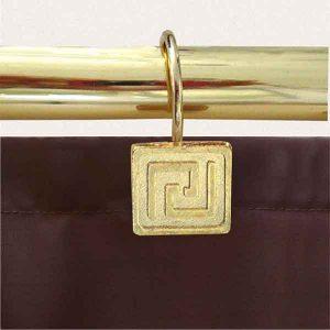 12 PCS METAL BATHROOM CURTAIN RINGS GREECE